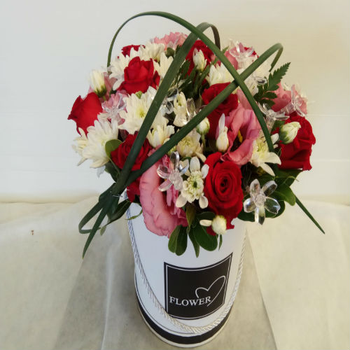 סידור פרחים בקופסא 13