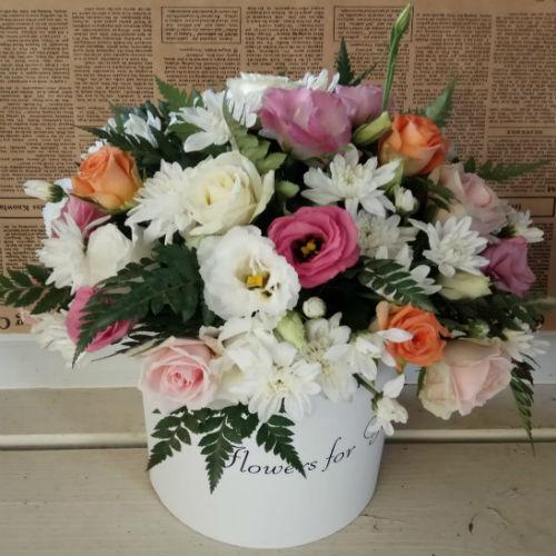 סידור פרחים בקופסא 1