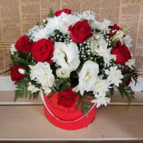 סידור פרחים בקופסא 2
