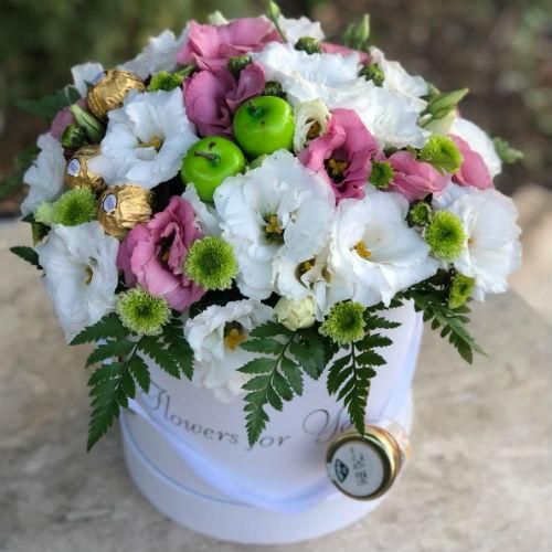 סידור פרחים בקופסא 8