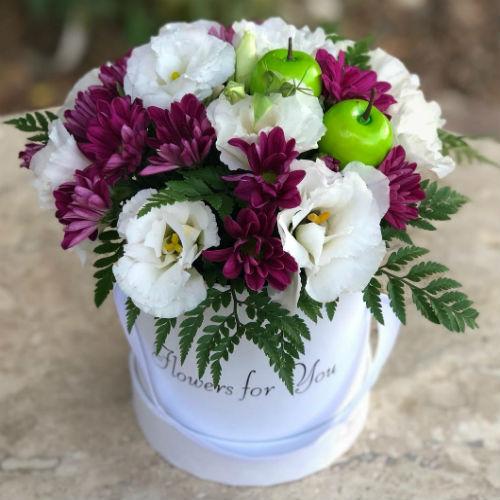 סידור פרחים בקופסא 9